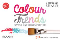 Colour Trends Modern Swatches Vol1 by pixelbypixel on Creative Market