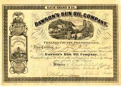 Dawson's Run Oil Company - Harmony Township, Venango County, Pennsylvania - 1865