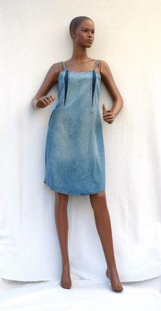 Blue Denim Girl - Robe à bretelles en jean