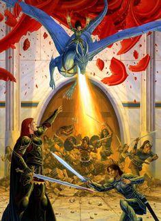 by Larry Elmore Fantasy Dragon, Dragon Art, Eragon Fan Art, Inheritance Cycle, Christopher Paolini, Dragon Series, Got Dragons, Legends And Myths, Dragon Rider