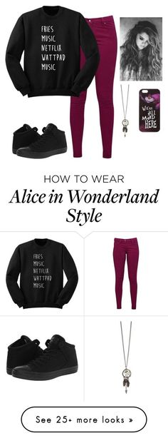 """Untitled #191"" by ambroselove on Polyvore featuring Great Plains, Converse and Disney"