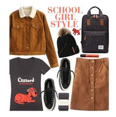 """School"" by beebeely-look ❤ liked on Polyvore featuring Converse, Falke, NYX, casual, school, schoolstyle, sammydress and skirtunder50"