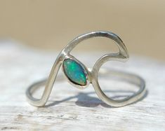 Catching Waves Opal Handmade Ring - Ocean Jewellery by Sophie Janson Jewellery
