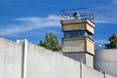 Remembering the Fall of the Berlin Wall. Berlin Wall Memorial—a watchtower in the inner area.