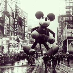 Despite the Great Depression, the Macy's Thanksgiving Day Parade continued to grow through the 1930's. The first national radio broadcast of the Macy's Parade Thanksgiving took place in 1932. Two years later, Disney got in on the giant balloon fun, introducing the Mickey Mouse balloon in 1934. By then, more than one million people were attending this popular parade in NYC, and those attending this popular parade in NYC, and those fortunate enough to own a TV could see the broadcast on NBC…