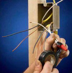 Instalaciones eléctricas residenciales - Encintado opcional de conector roscable