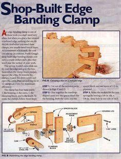 Shopmade Edge Banding Clamp - Edging Tips, Jigs and Techniques | WoodArchivist.com