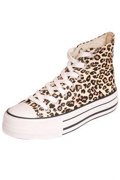 Leopard Print Lace-Up Woman Sneaker