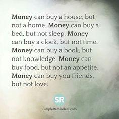 It's just money!