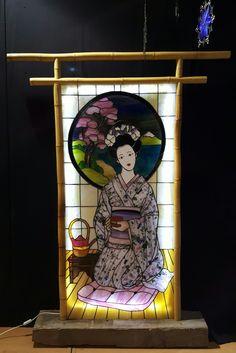 Stained glass Geisha