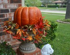 fall home- great idea for my flower pot urns