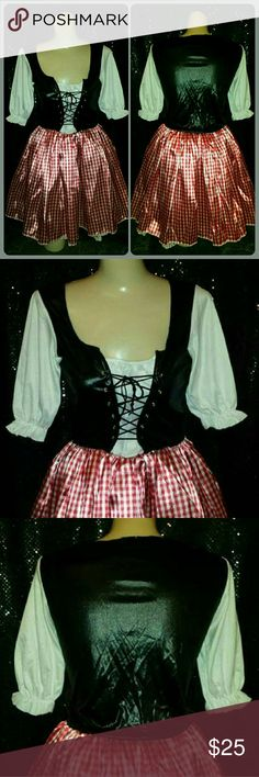 SEXY SALOON GIRL COSPLAY WENCH COSTUME DRESS SEXXXY LIL SALOON GIRL / BOSOM BARING WENCH style costume dress...its a LADIES SIZE-MEDIUM and in AWESOME pre-owned condition Dresses