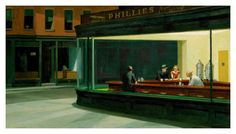 Two Point Perspective   'Nighthawks' (1942) by Edward Hopper. http://www.artyfactory.com/perspective_drawing/perspective_4.html