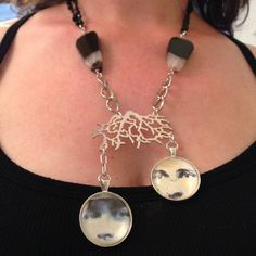 Eye'm Watching You Necklace by LincolnStreetDesign on Etsy