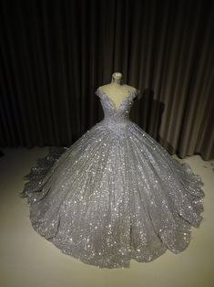 Items similar to Sparkly Silver Gown, Silver Dress – Silver Ballgown – Wedding Gown, Modern Evening Wear, sparkly Ballgown, Custom Made on Etsy Sparkly Silver Gown Silver Dress Silbernes Ballkleid Silver Ballgown, Wedding Gown Ballgown, Silver Gown, Silver Sequin, Pretty Quinceanera Dresses, Sequin Prom Dresses, Ball Dresses, Sparkly Dresses, Chiffon Dresses