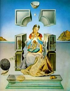 (Famous painting ranked 740/1000) - Salvador Dali - 'The Madonna of Port Lligat (first version)'