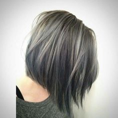 Grey Highlights In Dark Brown Hair 35 smoky and sophisticated ash brown hair color looks 564 X 564 pixels Winter Hairstyles, Cool Hairstyles, Hairstyles 2016, Hairstyle Ideas, Grey Bob Hairstyles, Roman Hairstyles, Grey Hairstyle, Decent Hairstyle, Style Hairstyle