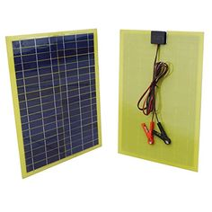 ECO-WORTHY 20 W Watt Epoxy Solar Panel with 2m Cable & 30A Clip for 12V Camping Battery Charger DC HOUSE http://www.amazon.com/dp/B018VR34RY/ref=cm_sw_r_pi_dp_LaJ.wb005TJS4