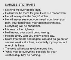 classic signs of a narcissist