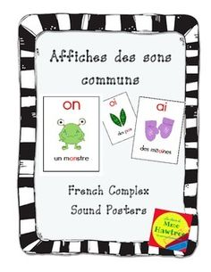 Affiches des sons communs - French Complex sound posters Card Games, Sons, Classroom, French, Headers, Cards, Students, Posters, Learning
