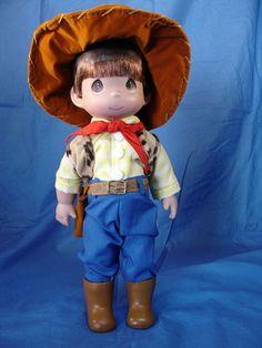 """Precious Moments Cowboy Cowgirl 12/"""" Doll Set"""