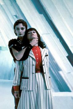 Sarah Douglas as Ursa and Margot Kidder as Lois Lane in Superman II, 1980