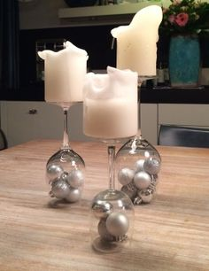 Decoratie kerst wijnglazen