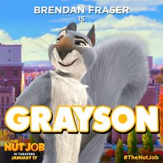 Brendan Fraser plays Grayson in easily the handsomest squirrel in Liberty Park—just look at that flowing tail! Family Tv, Family Movies, Matching Halloween Costumes, The Nut Job, Brendan Fraser, Reality Tv Shows, Adult Children, Squirrel, Movie Tv