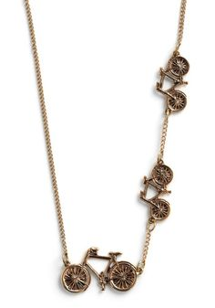 From Tricycle to Bicycle Necklace, #ModCloth