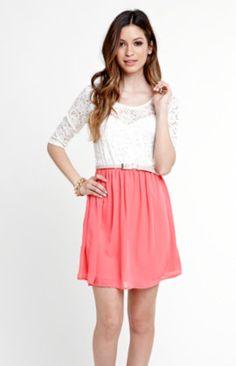 Kirra Lace Chiffon Dress
