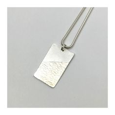 This 925 Silver pendant is made of silver clay. Metal Clay, Silver Jewellery, 925 Silver, Dog Tag Necklace, Handmade Jewelry, Pendant, Silver Pendants, Neck Chain, Schmuck