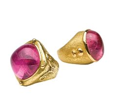 KATY BRISCOE - Pink Tourmaline with Diamond Ring & William's Ring in Pink Tourmaline