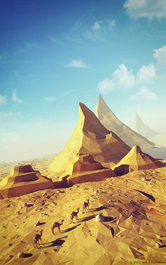 ▶▶▶  Low poly desert