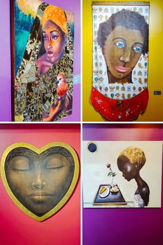 Love these beautiful queens depicted in art paintings! I saw actress CCH Pounder's Queen Art Exhibit in person at The Wright Museum in Detroit, Michigan. #beautifulqueens #africanamericanart #blackart #africanart African American Culture, African American Artist, African Artists, Avatar Films, Queen Art, African Diaspora, Detroit Michigan, Black Artists, Black Abstract