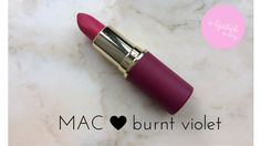 mac burnt violet a lipstick a day blue sparkles Beauty Corner, Blue Sparkles, Mac Lipstick, Burns, Lipstick, Mac Lipsticks