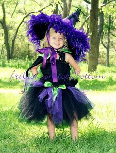 Toddler Witch Costume  Great for Halloween by frillsfromtop2bottom, $75.00