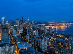 Blue Hour, Seattle, Washington