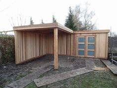 Strak modern huisje in IJsselstein Google+ Backyard Storage Sheds, Shed Storage, Pergola, Shed Plans, House Plans, Garden Huts, Summer House Garden, Studio Shed, Backyard Buildings