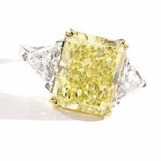 Fancy Yellow Diamond Ring - Sotheby's