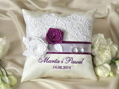 Lace Wedding Pillow  Ring Bearer Pillow by DecorisWedding on Etsy, $30.00