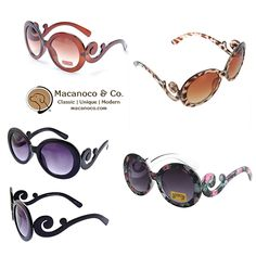 Macanoco and Co.    Retro Baroque Swirl Round Oversized Sunglasses for children.    UV 400 Protection with poly-carbonate lens and Flex Fit frame.      Ages: 3+.  Plastic frame.  Plastic lens.  Non-polarized.  UV400 standard – 100% UV Protection  Lead Free.  Imported.     Shop this product here: spreesy.com/MacanocoAndCo/108   Shop all of our products at http://spreesy.com/MacanocoAndCo      Pinterest selling powered by Spreesy.com