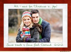 All I want for Christmas is you. Save the Date Holiday Card