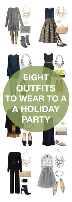 From the office Christmas party to New Year's Eve, these eight outfits are perfect for your next holiday party. // Click for outfit details.