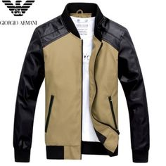 Armani Latest Fall winter collection for men consisting of latest trends of best men coats, jackets, sweaters, jumpers and winter dresses for men. Winter Dressing For Men, Baseball Jacket Men, Mens Winter Coat, Outdoor Wear, China Fashion, Varsity Jackets, Leather Jacket, Mens Fashion, Wardrobes