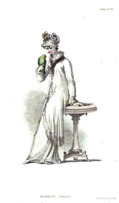 Morning Dress from Ackermann's Repository of the Arts April 1815