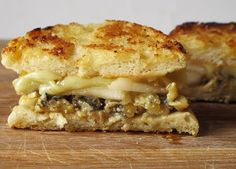 Blue cheese grilled cheese. OMG this is my dream grilled cheese