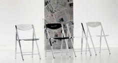 RIPIEGO, design: Giuliano Cappelletti Architetto/ Studio Ozeta Metal frame folding chair, Vitrex or wooden seat and back.www.ozzio.com