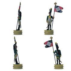"""Abanderado de 20 regimiento de Dragones de la colección """"Napoleón Ajedrez : la batalla de Jena"""" de Altaya - Subido desde www.elgrancapitan.org"""