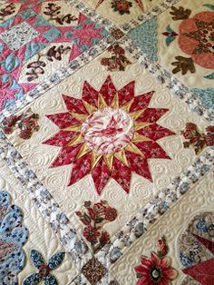 Di Ford's 'Antique Wedding Sampler; revisited quilted by Katrina's Quilting.
