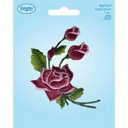 Coral Open Rose W/Buds Applq Cost